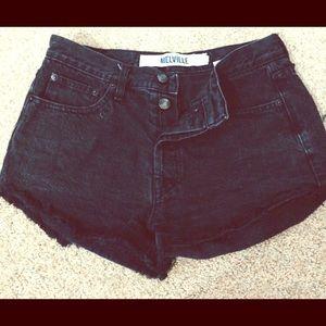 Black Denim Brandy Melville Shorts